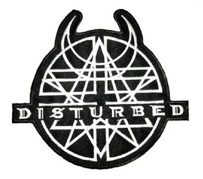 """DISTURBED Heavy Metal Embroidered Iron On Sew On Shirt Badge Patch 4.1"""""""