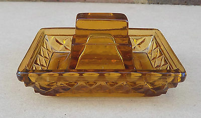 Vintage Glass Match Box Holder