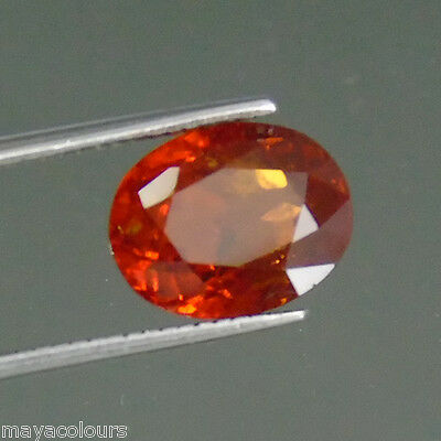 5.11Ct Sparkling Mandarin Orange 100% Natural Spesserttite Garnet