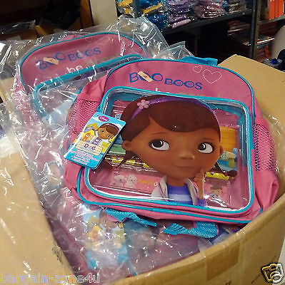 18 x Wholesale Disney Mcstuffins Kids School Rucksack Stationery Backpack Bag