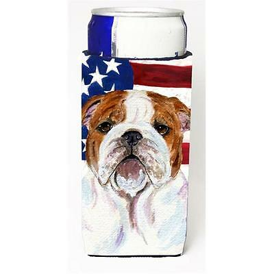 Usa American Flag With Bulldog English Michelob Ultra bottle sleeves For Slim...