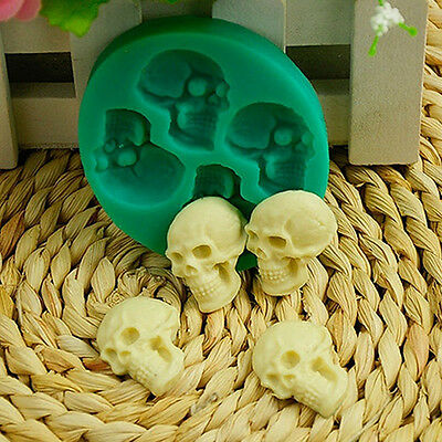 Skull Head Silicone Fondant Cake Mould Chocolate Mold Halloween Party Exquisite