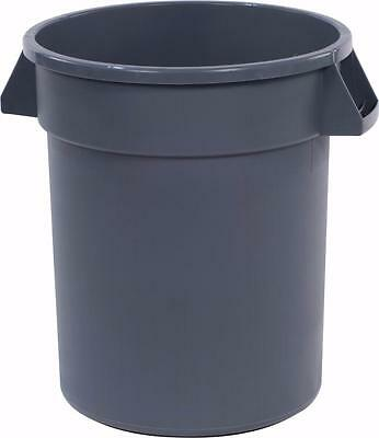 Carlisle 34102023 Bronco Round Waste Container 20 Gallon Gray Case of 6