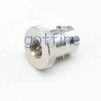 2pcs BNC female jack to SMA male plug straight discal RF connector adapter