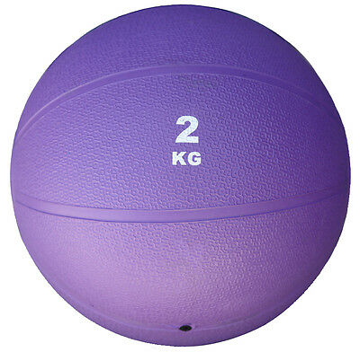 Clearance Warped 2Kg (4.4 Lbs) Purple Slam Medicine Ball Bouncing Weighted 2 Kg