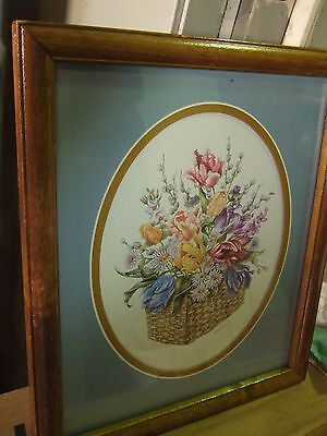Home Interior by Kay Lamb, basket of mixed flowers  (Reduced