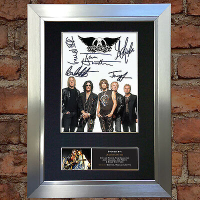 AEROSMITH Signed Autograph Mounted Quality Photo Reproduction A4 Print 463