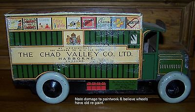 RARE EARLY CHAD VALLEY DELIVERY BISCUITS TIN VAN - CIRCA 1950's - WORKING
