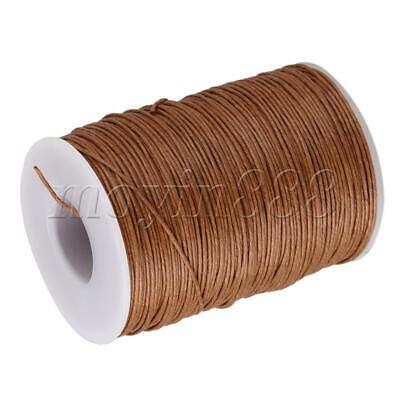 100 Meter Natural Hemp Waxed Thread Round Cord Leather Craft  Line Light Brown