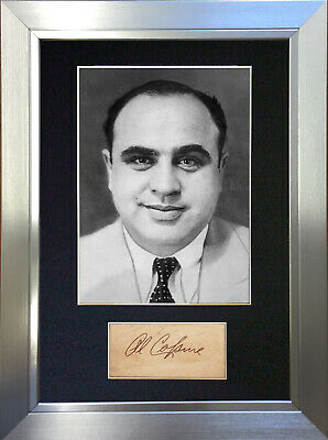 AL CAPONE Gangster Signed Autograph Mounted Photo Reproduction A4 Print 574