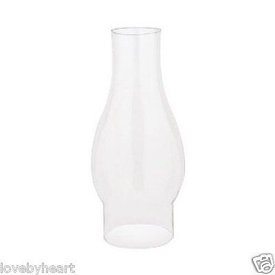 Replacement Chimney Glass Lighting Shade Corp 8 1/2 Inch Lamp Tall Oil Globe NEW