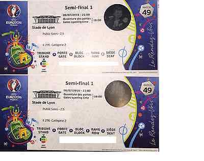 2 category 2 tickets: 1/2 Finale: Portugal - Wales