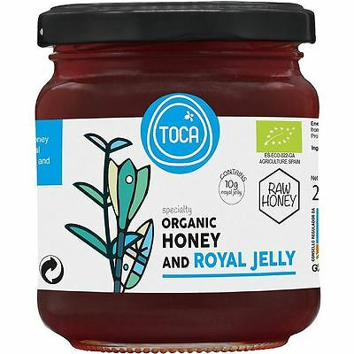 Toca Honey Raw Organic Honey + Royal Jelly 270g