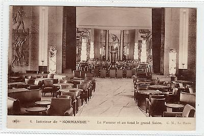 """""""normandie"""" - Shipping Postcard (C186)."""