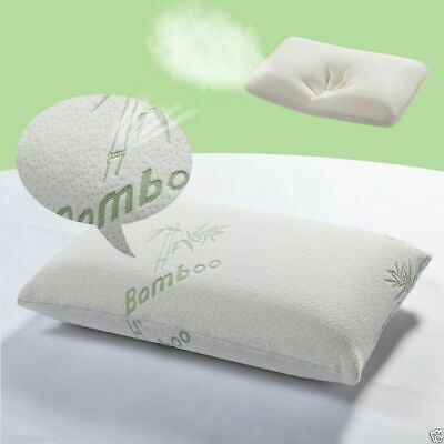 New Quitenight Ultimate Memory Foam Firm Bamboo Head Neck Support Satin Pillow