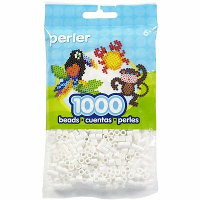 Perler 1,000 White Color Iron On Fuse Beads: 80-19001