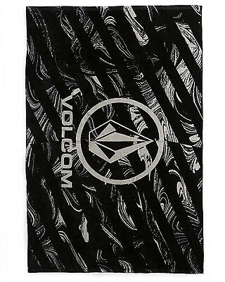 Volcom Twisted  Mens Towel in Black - On Sale Now