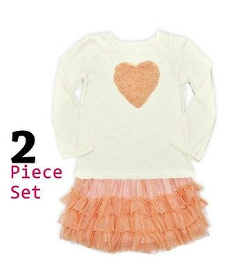 BNWOT Girls Ex Nutmeg Dusky Pink Tutu and T-shirt Set Ages 2-3 Years Only Left