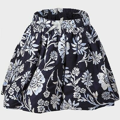 Girls Ex Osh Kosh Blue Floral Skirt Fully Lined with net trim age 1 - 2 years