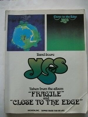 Yes Fragile And Closer To The Edge Japan Band Score Guitar Tab