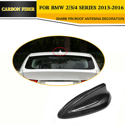 Universal Carbon Fiber Shark Fin Roof Antenna Aerials Cover For BMW F22 F30 F32