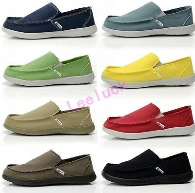 New Men Fashion Walking Canvas Driving Slip On School Casual Loafers Flat Shoes