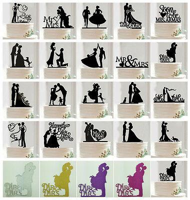 NEW Paper Mr &Mrs Bride Groom Wedding Love Cake Topper Party Favors Decoration