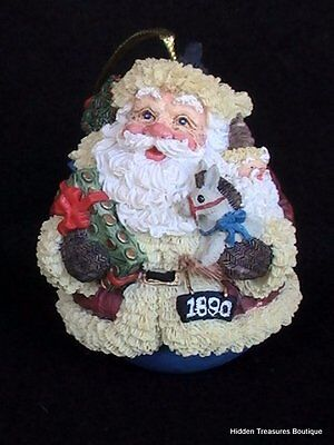 Galleria Lucchese Roman 1890 Roly Poly Santa Christmas Ornament