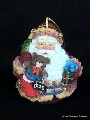 Galleria Lucchese Roman 1840 Roly Poly Santa Christmas Ornament