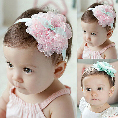 New Cute Kids Baby Girl Lace Flower Hair Band Headwear Headband Hair Accessories