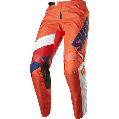 Shift 2017 NEW Mx Gear WHIT3 Label Tarmac Red White Navy Orange Motocross Pants