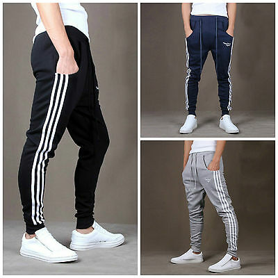 Mens Skinny Sweatpants Gym Slim Fit Track Pants Casual Tracksuit Sport Pants