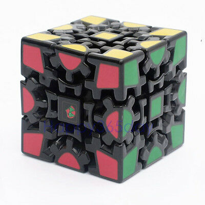 3x3x3 Gear Dodecahedr Pyramid Magic Cube Twist Puzzle Kid Toy Gifts Black