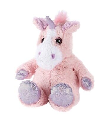 Warmies Cozy Plush SPARKLY PINK UNICORN Lavender Scented Microwavable Toy
