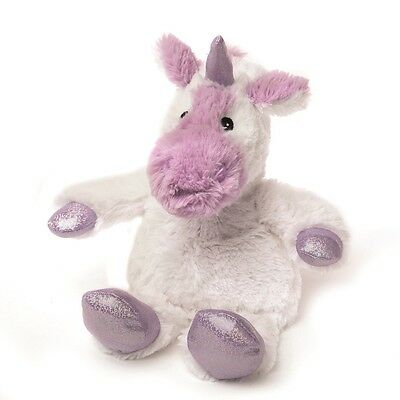 Warmies Cozy Plush SPARKLY WHITE UNICORN Lavender Scented Microwavable Toy