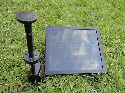 Day/Night Solar Fountain water Pump W/LED Light Battery Timer P003F