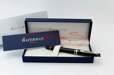 Waterman Expert Füller Fountain Pen New Generation Lack Schwarz Gold Plattiert