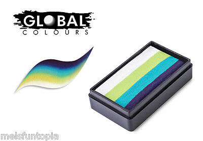 Global Colours 30g Tokyo Fun Stroke Rainbow Cake, Professional Face Paint, Party