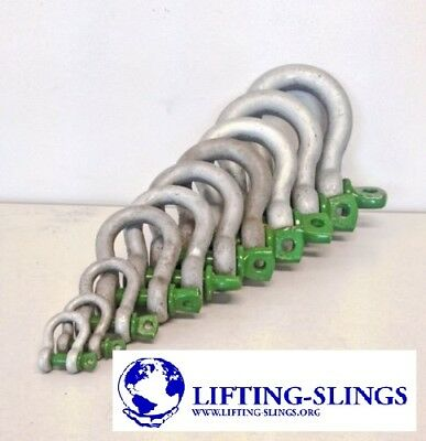 Heavy Duty Green Pin Alloy Bow Lifting Shackles 0.33ton to 55ton - 4x4 Recovery