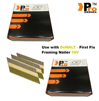 4000  Nails for  DEWALT Cordless DCN692 Framing Nails,Clipped D-Head  -    09