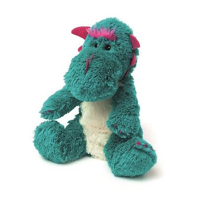 Warmies Cozy Plush Fully Microwavable GREEN DRAGON Lavender Scented Heatable Toy