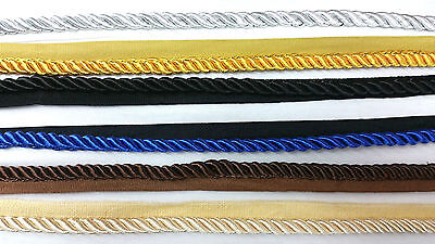 8Mm Twisted Rope, 6 Colours Braid Cord Piping With Edging