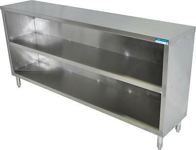 "BK Stainless Steel Dish Cabinet, 72"" x 18"""