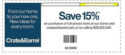 how to get crate and barrel 15 coupon
