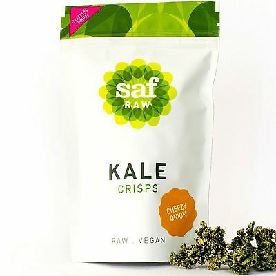 Saf Raw Kale Crisps - Cheezy Onion 40g (Pack of 3)