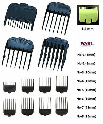 ATTACHMENT Plastic COMBS for WAHL Hair Clippers - Number 1 2 3 4 5 6 7 8