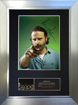ANDREW LINCOLN The Walking Dead Signed Autograph Mounted Repro Photo Print 562