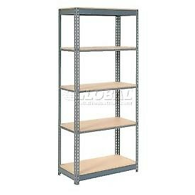 "Heavy Duty Shelving 48""W x 12""D x 72""H With 5 Shelves, Wood Deck"