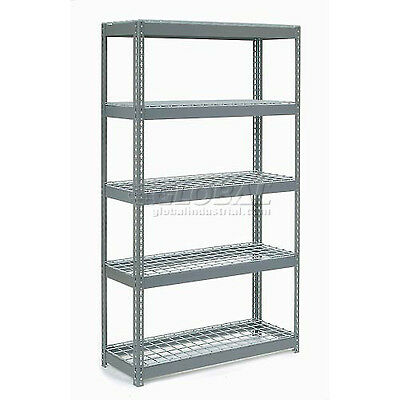 "Extra Heavy Duty Shelving 48""W x 24""D x 72""H With 5 Shelves, Wire Deck"