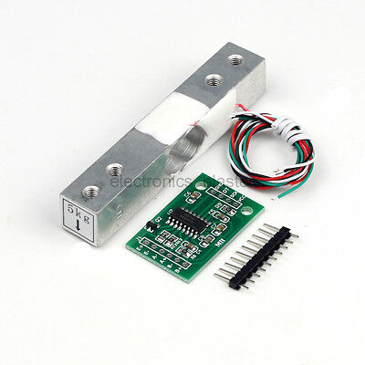 5KG Scale Load Cell Weight Weighing Sensor + Weighing Sensors AD Module HX711